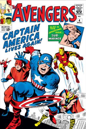 شماره 4 از سری اول کمیک بوک های Avengers