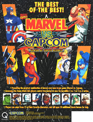 بازی  MARVEL VS CAPCOM : CLASH OF THE SUPERHEROES