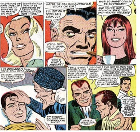 supporting cast drawn by romita