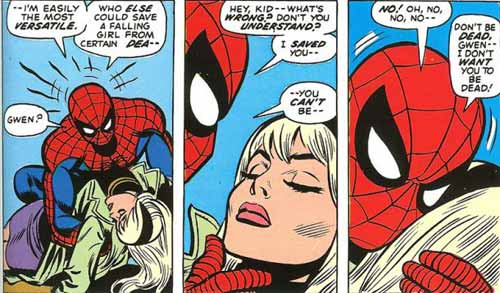 مرگ گوين استيسي - gwen stacy death