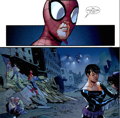 گربه سیاه - فلیشیا هاردی به مرد عنکبوتی کمک میکند