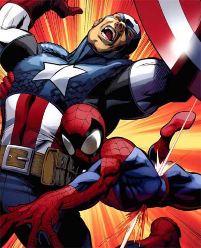 مرد عنکبوتی کاپیتان امریکا را نجات میدهد