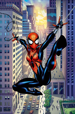 Large spiderman wall decal